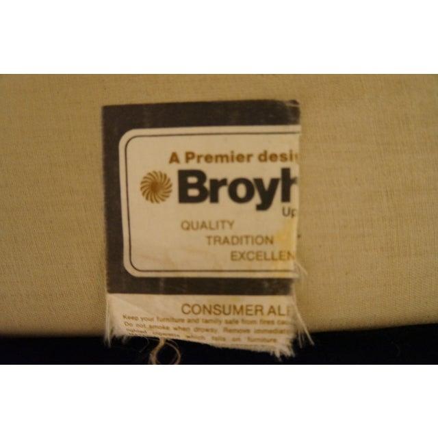 Broyhill Emerald Green Velvet Sofa - Image 7 of 7