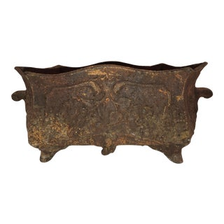 Early 20th Century Antique French Iron Jardiniere For Sale