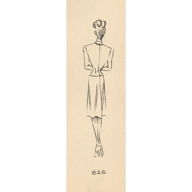 Mid-Century Modern French Fashion Design Lithograph For Sale - Image 3 of 4