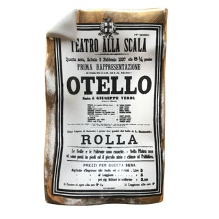 """Otello"" Piero Fornasetti Ceramic and Gold Smoking Accessory For Sale"