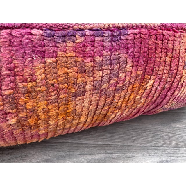 Moroccan Hand Woven Berber Moroccan Pouf Cover For Sale - Image 3 of 13