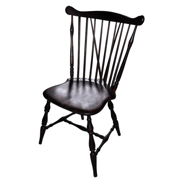 Fabulous Antique Windsor Wood Spindle Back Dining Chair Uwap Interior Chair Design Uwaporg