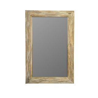 Dueling Bronze and Parchment Mirror by MarGian Studio For Sale