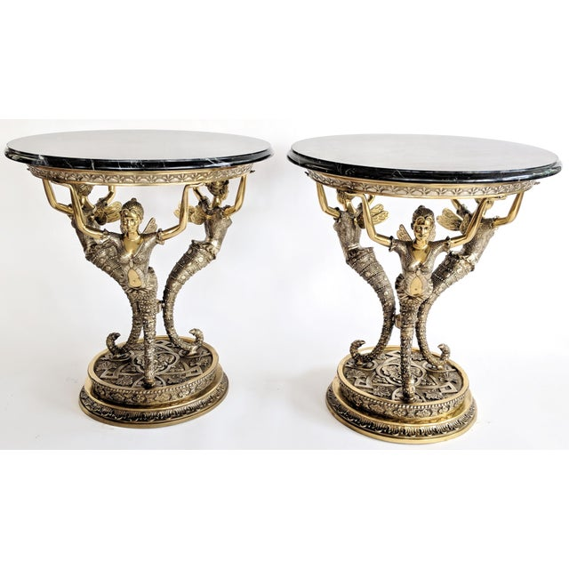 Art Nouveau Bronze Mythical Fairy Figural Tables - A Pair - Image 11 of 11