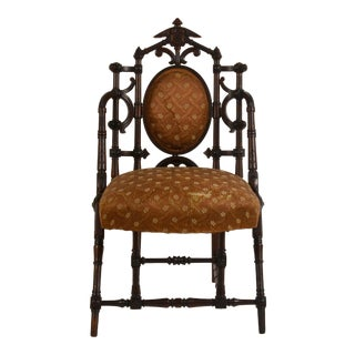 Late 19th Century Vintage George Hunzinger Turned Walnut Side Chair For Sale