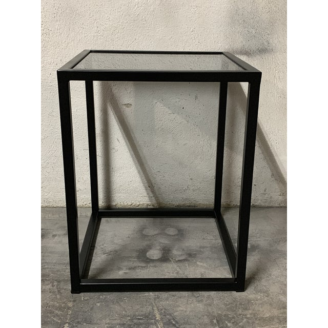 About New Modern square black table with Fumee glass top. Indoor or outdoor You can combine several tables for make a...