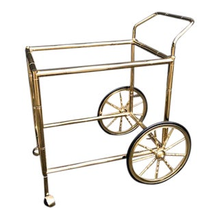 Art Deco Brass Bar/Tea Cart For Sale