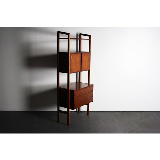 Yugoslavian Mid-Century Teak Wall Units - A Pair For Sale - Image 7 of 9