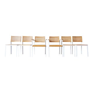 Six George Nelson Steel Frame Dining Chairs For Sale