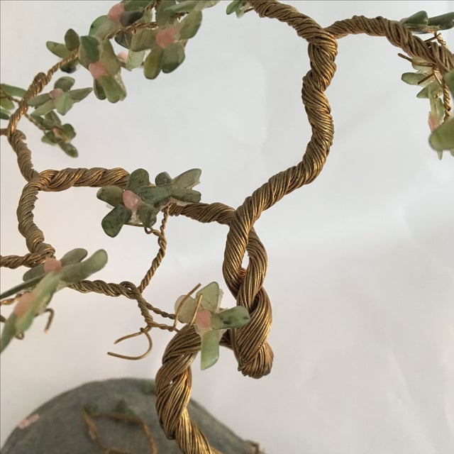 Vintage Hand Wired Tree on Stone - Image 4 of 6