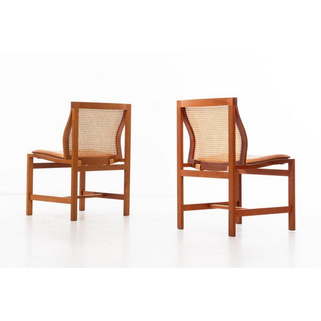 1970s Rud Thygesen & Johnny Sorensen Set of 8 Dining Chairs For Sale - Image 5 of 13