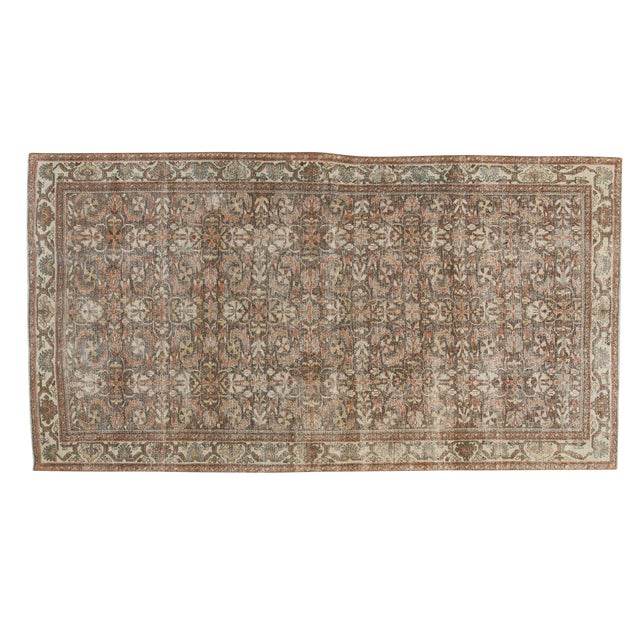 "Vintage Distressed Mahal Carpet - 5'5"" X 10' For Sale"