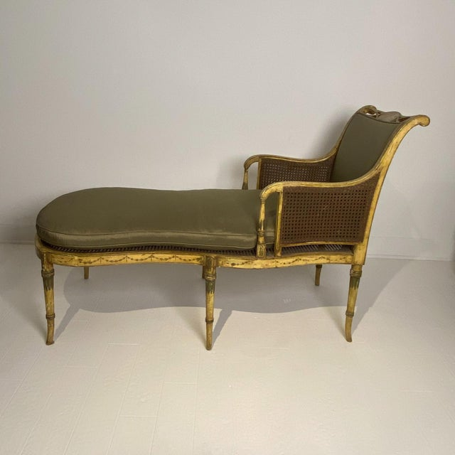Painted Fainting Chair, England Circa 1810 For Sale - Image 11 of 11