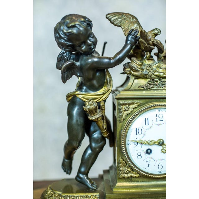 French Mantel Clock Set, Circa 19th Century For Sale - Image 11 of 13