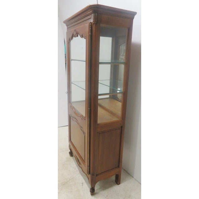 County French Cherry China Cabinet - Image 3 of 10