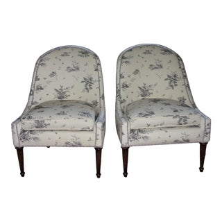 Brunschwig & Fils Upholstered Chairs - A Pair For Sale
