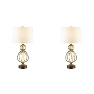 Antique Gold Table Lamps - a Pair For Sale