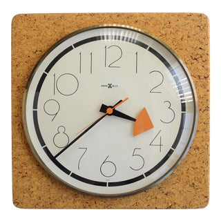 George Nelson Howard Miller Cork Wall Clock For Sale