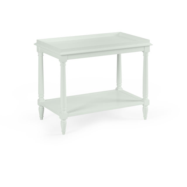 Transitional Casa Cosima Revere Side Table, Gray Cashmere For Sale - Image 3 of 3