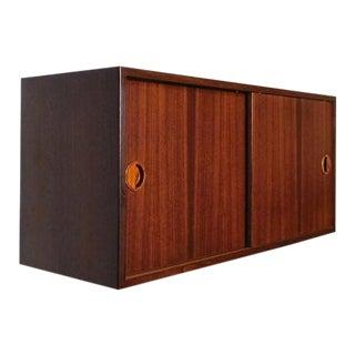Danish Modern Hg Furniture Floating Rosewood Bar / Desk / Cabinet / Wall Unit For Sale
