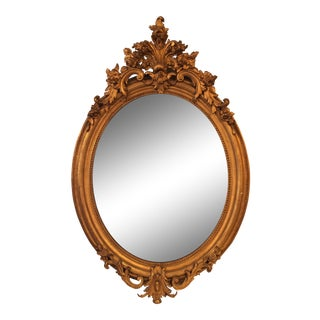Napoleon III Oval Mirror For Sale