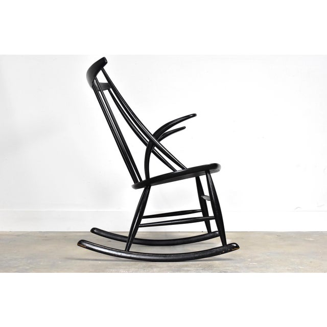 Mid-Century Rocking Chair by Illum Wikkelso For Sale In Orlando - Image 6 of 13