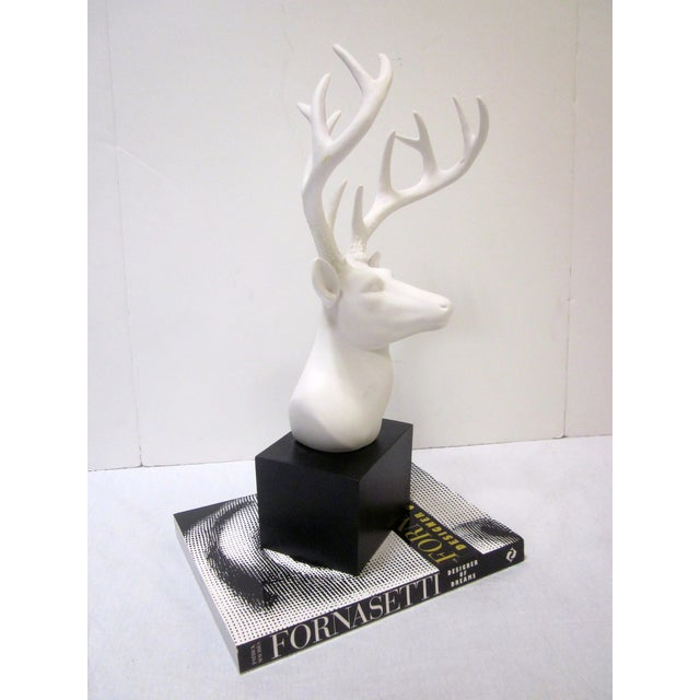 Faux White Reindeer Deer Antlers Bookshelf Decor - Image 5 of 11
