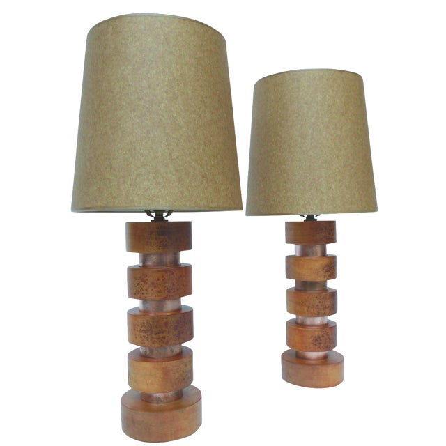 Pair of Midcentury Table Lamps in the Style of Paul Frankl - Image 1 of 7