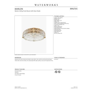 Marlon Ceiling Flush Mount With Glass Shade in Nickel Preview