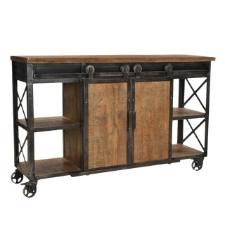 Industrial Farmhouse Sideboard For Sale