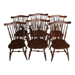 Mid-Century Heywood Wakefield Winthrop Chairs - Set of 6 For Sale