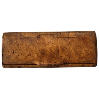 Early 20th Century Small Burl Walnut Cigarette Case For Sale