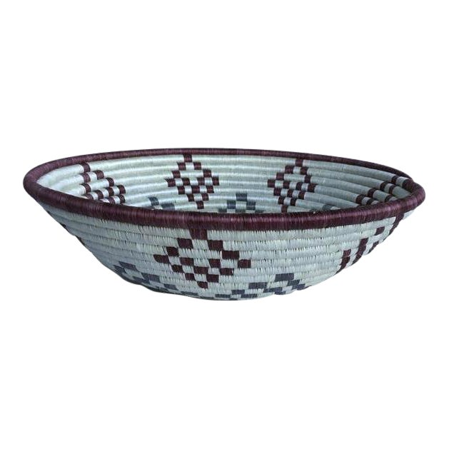 African Woven Basket - Image 1 of 6