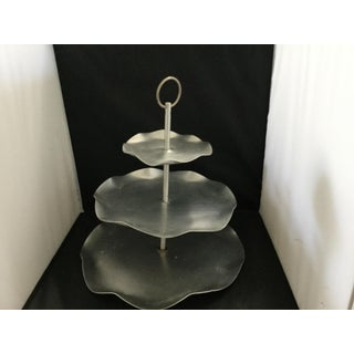 Handmade 3 Tier Silver Cake Stand Preview