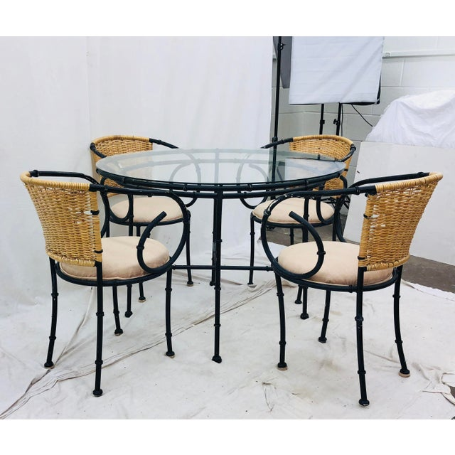 Mid 20th Century Vintage Regency Style Dining Set For Sale - Image 5 of 12