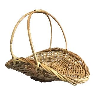 Wicker Harvest Basket For Sale
