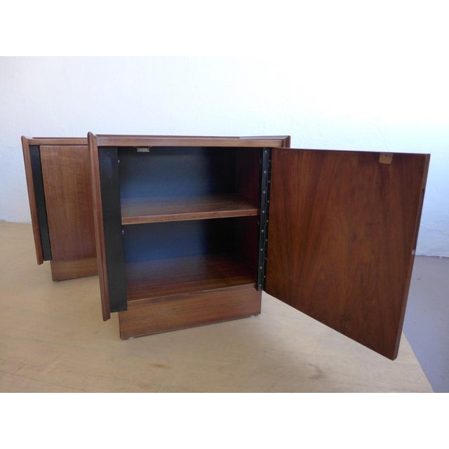Dillingham Walnut Nightstands - A Pair For Sale - Image 10 of 11