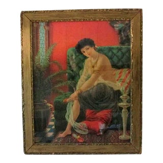 Antique Framed Salome Lithograph