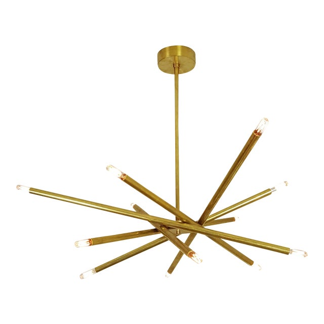 "Model 120 Sculptural Brass ""Nest"" Chandelier by Blueprint Lighting - Image 12 of 13"