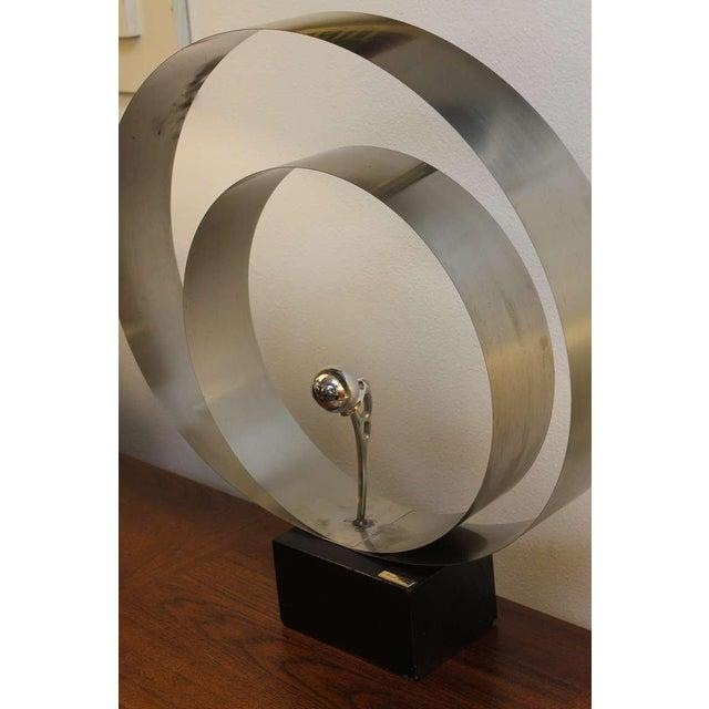 Modern David Wolfe Steel Circular Sculpture For Sale - Image 3 of 8