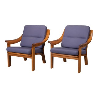 Pj Danmark Armchairs With Finger Joint Arms - a Pair For Sale