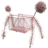 Image of Frederick Weinberg Pink Poodle Magazine Stand For Sale