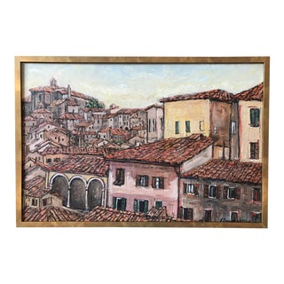 "Eleanor Voorhees ""Siena, Italy"" Oil on Board Painting For Sale"