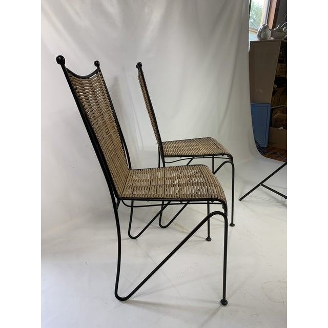 Ficks Reed Ficks & Reed Mid-Century Modern Bamboo & Rod Iron Dining Chairs - Set of 2 For Sale - Image 4 of 11