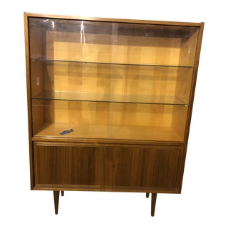 1970s Mid-Century Modern Wooden Hutch For Sale