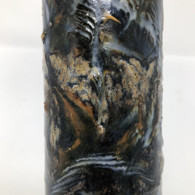 Signed Abstract Studio Pottery Vase For Sale - Image 4 of 13
