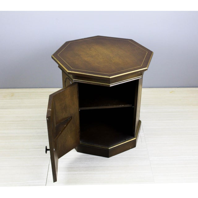 Brown Mid-Century Walnut Side Table Cabinet For Sale - Image 8 of 8