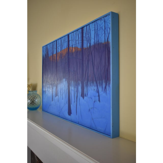 """Stephen Remick """"Nightfall in Deer Hollow"""" Contemporary Expressionist Landscape Painting For Sale - Image 10 of 12"""