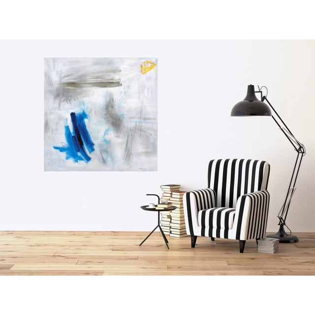 """Canvas """"Clearing"""" by Trixie Pitts Large Abstract Oil Painting For Sale - Image 7 of 11"""