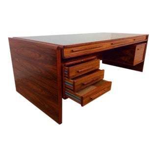 Dyrlund Executive Rosewood Desk For Sale
